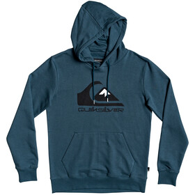 Quiksilver Comp Logo Screen Fleece Capuchon Jas Heren, majolica blue